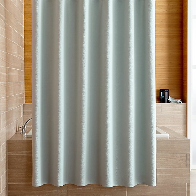 Pebble Matelasse Spa Blue Shower Curtain
