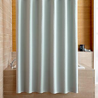 Pebble Matelassé Spa Blue Shower Curtain