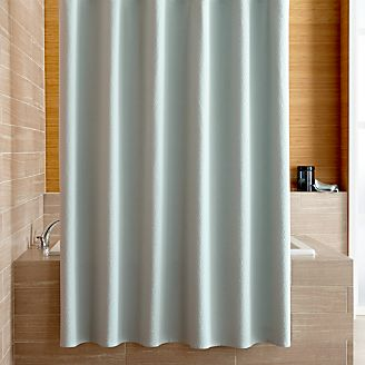 Captivating Pebble Matelassé Spa Blue Shower Curtain