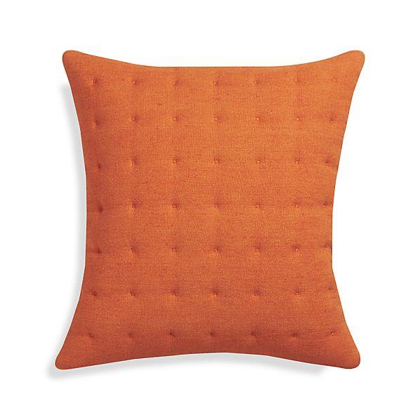 "Pelham Orange 20"" Pillow with Feather Insert"