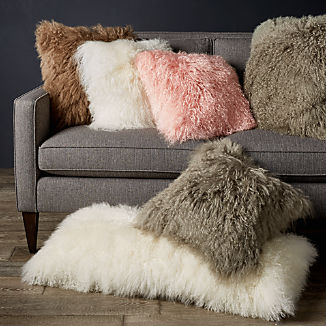 Pelliccia Mongolian Sheepskin Pillows