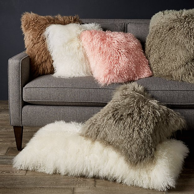 Pelliccia Mongolian Sheepskin Pillows - Image 1 of 12