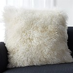 Pelliccia Ivory 23  Pillow with Feather-Down Insert