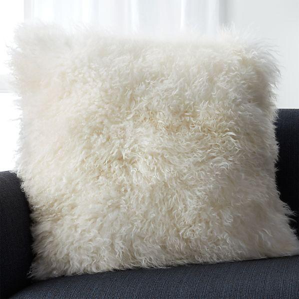 "Pelliccia Ivory 23"" Pillow"