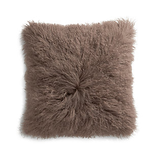 "Pelliccia Mushroom Brown 23"" Pillow"