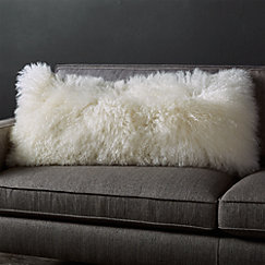 Pelliccia Mongolian Sheepskin Pillows Crate And Barrel