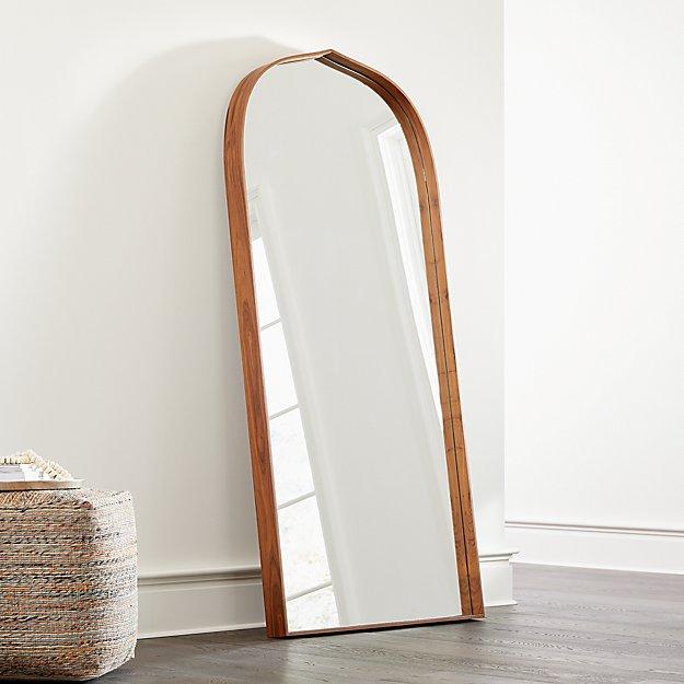 Penarth Walnut Floor Mirror - Image 1 of 4