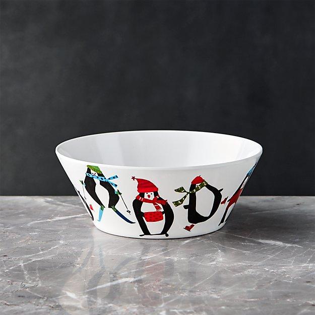 Penguin Melamine Bowl