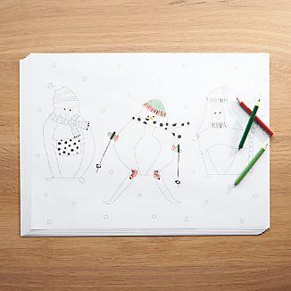 Penguin Paper Placemats, Set of 12
