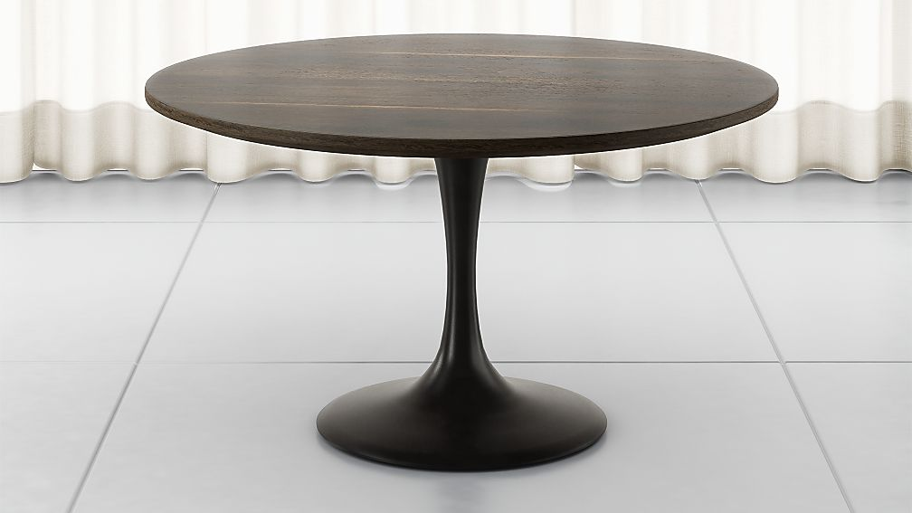 "Penn Patchwork Bronze 42"" Pedestal Base Dining Table - Image 1 of 8"