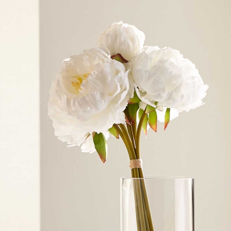 Faux White Peonies Reviews Crate And Barrel