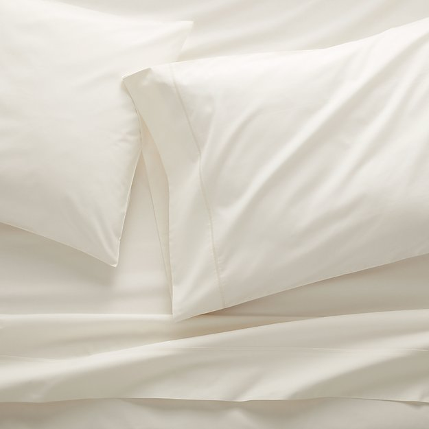 400 Thread Count Percale Ecru Full Sheet Set - Image 1 of 7