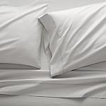 Dove Grey Percale Sheet Set Queen