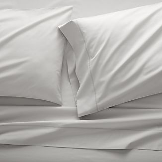 Dove Grey Percale Sheet Set Twin/Twin XL