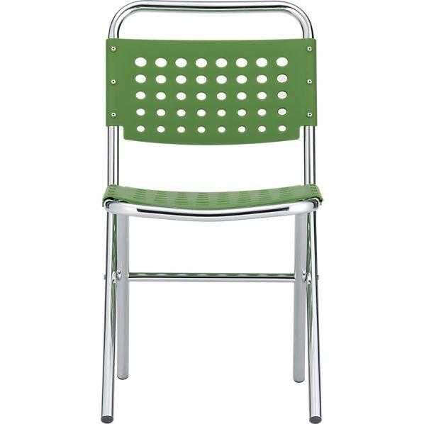 Perf Green Folding Chair