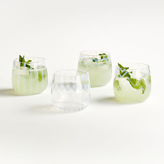 Perla Double Old-Fashioned Glasses, Set of 4