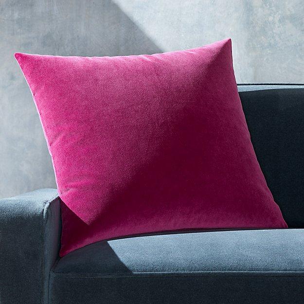 """Pernell Velvet Violet Pillow 23"""" - Image 1 of 3"""