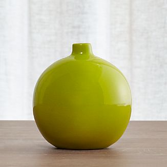 Perry Round Green Vase