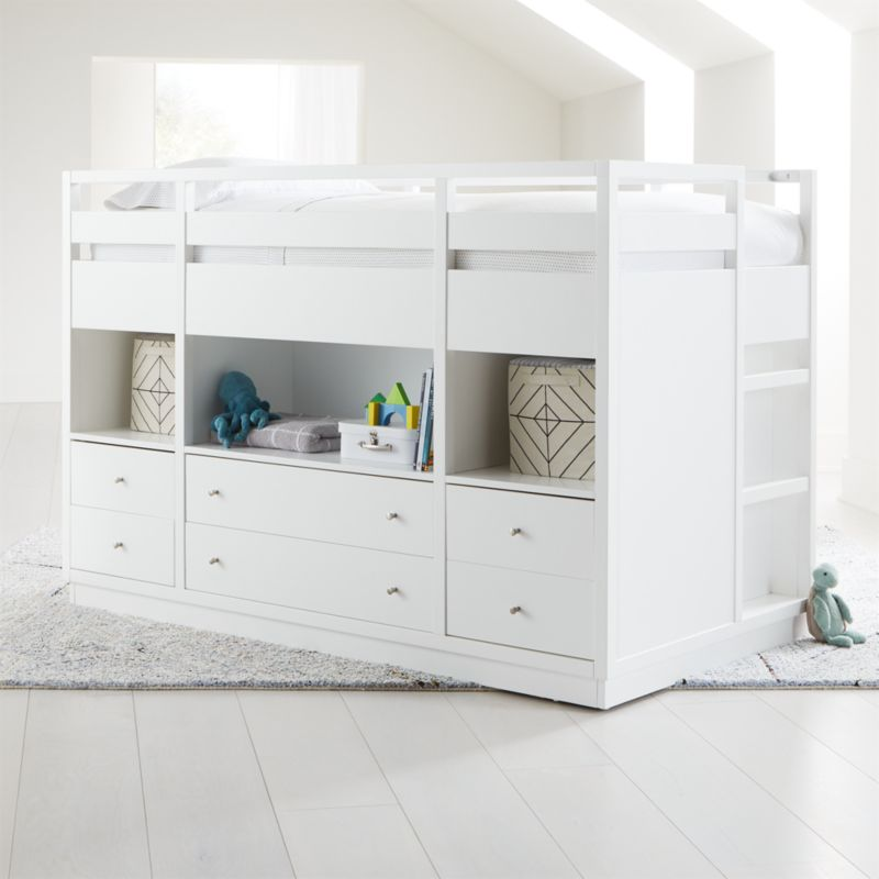 Perry Twin White Captain S Bed Crate