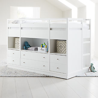 Perry Twin White Captain S Bed