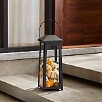 Petaluma Medium Black Metal Lantern