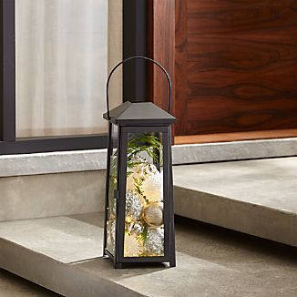 petaluma medium black metal lantern colors
