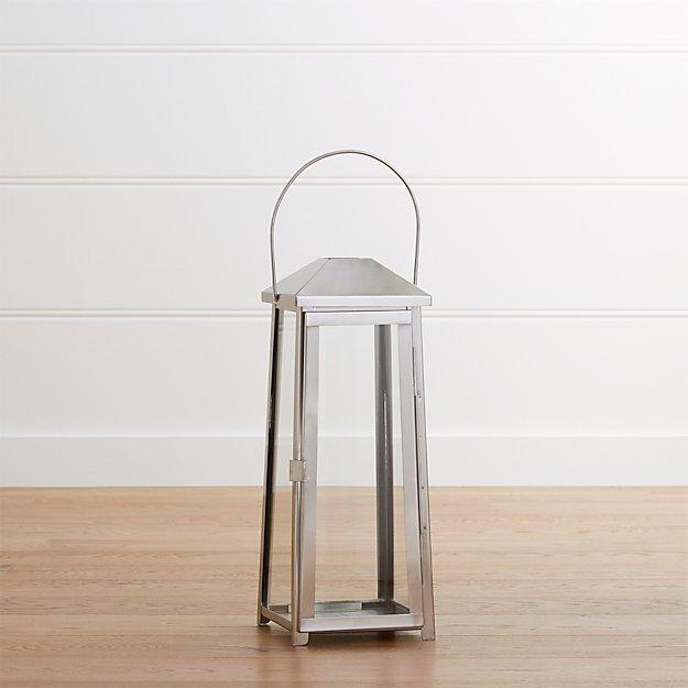 Petaluma Medium Stainless Steel Lantern
