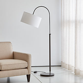Petite Bronze Adjustable Arc Floor Lamp