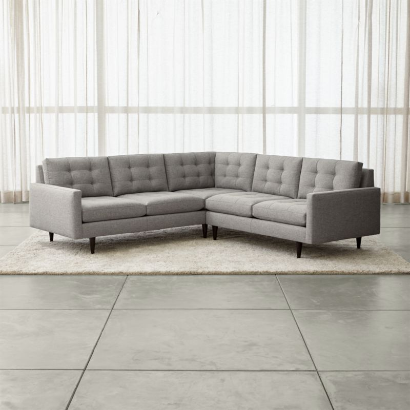 Petrie 2Piece Corner Midcentury Sectional Sofa Reviews Crate