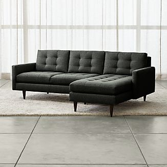 Petrie 2 Piece Right Arm Chaise Midcentury Sectional Sofa