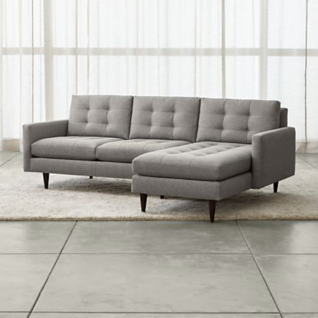 Petrie 2-Piece Right Arm Chaise Midcentury Sectional Sofa