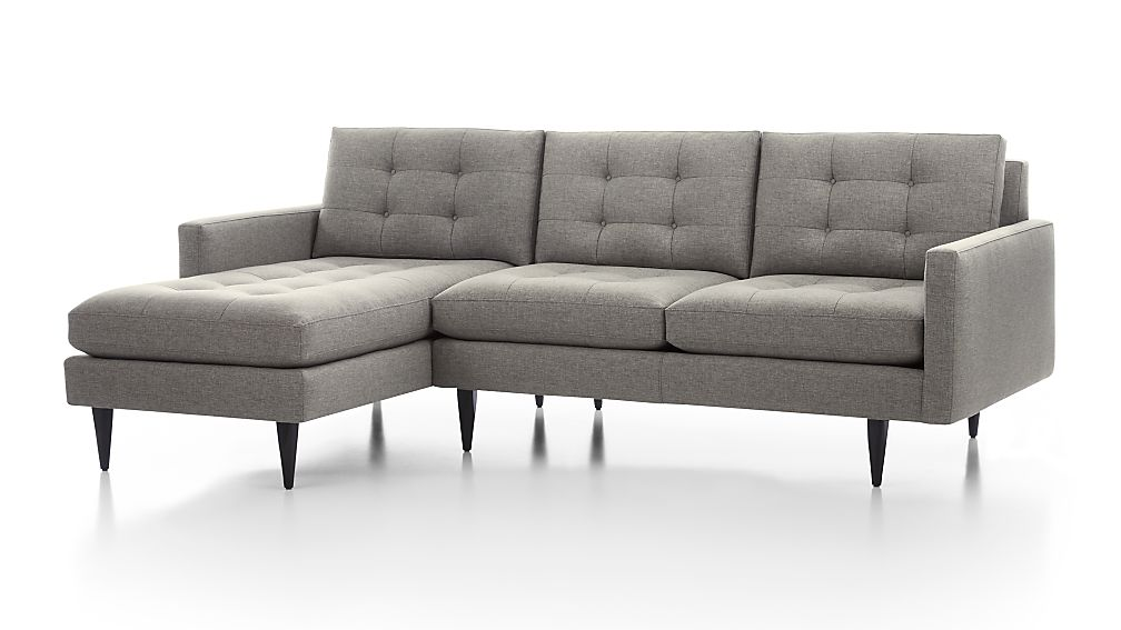 Petrie 2-Piece Left Arm Chaise Sectional Sofa ...  sc 1 st  Crate and Barrel : crate and barrel petrie sectional - Sectionals, Sofas & Couches