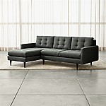 Petrie 2-Piece Left Arm Chaise Midcentury Sectional Sofa