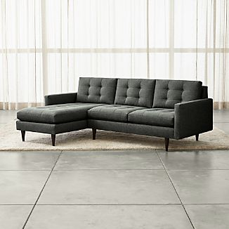 Petrie 2 Piece Left Arm Chaise Midcentury Sectional Sofa
