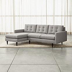 Petrie 2 Piece Left Arm Chaise Midcentury Sectional Sofa