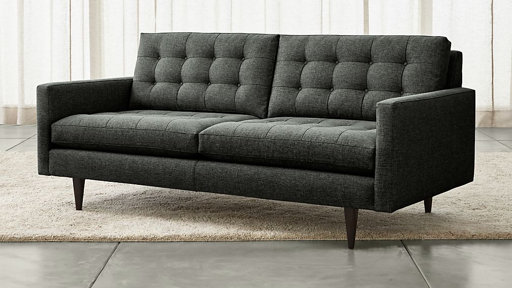 Petrie Small Tufted Sofa Reviews Crate And Barrel