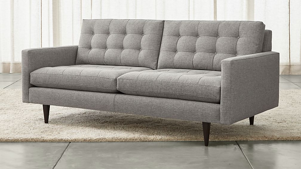 Petrie Modern Tufted Sofa + Reviews | Crate and Barrel