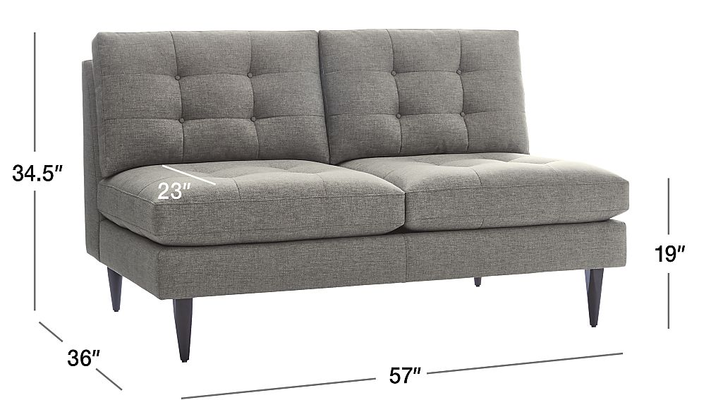 Petrie Armless Loveseat Crate And Barrel