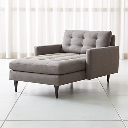 Petrie Midcentury Chaise Lounge Reviews Crate And Barrel
