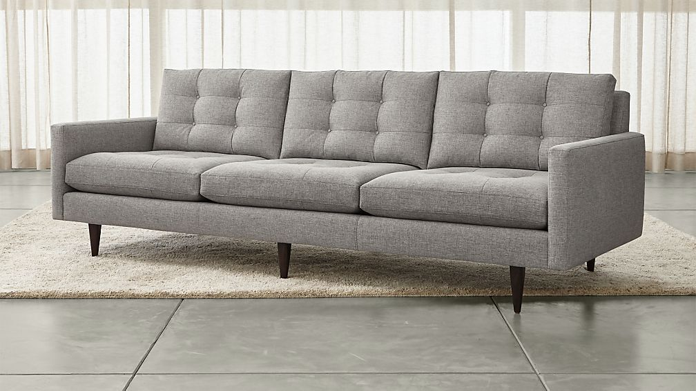 Fresh Petrie Modern Tufted Sofa + Reviews | Crate and Barrel NP08