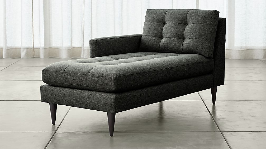 Petrie Left Arm Midcentury Chaise Lounge - Image 1 of 4
