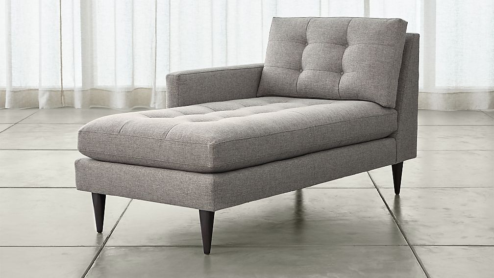 Petrie left arm chaise lounge jonas felt grey crate and for Arm chaise lounge