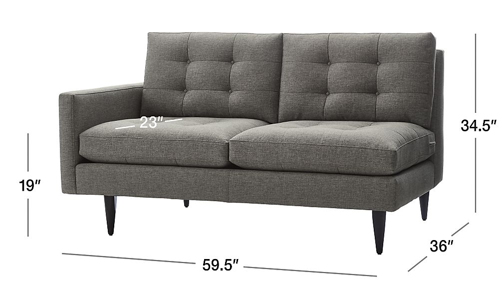 Petrie Left Arm Loveseat Crate And Barrel