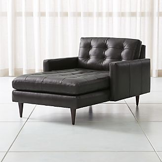 leather chaise lounge chair Chaise Lounge Sofas & Chairs | Crate and Barrel leather chaise lounge chair