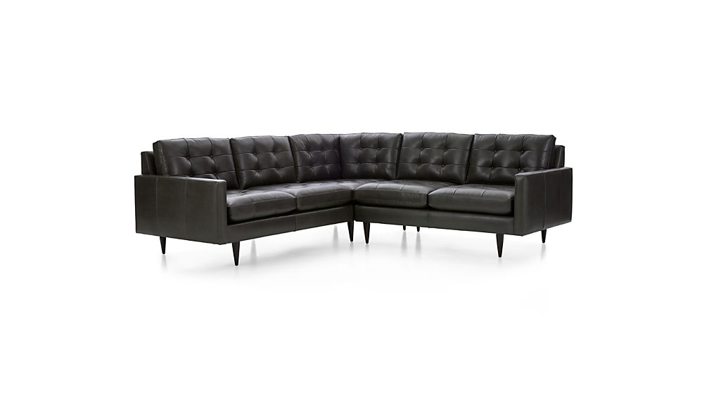 Petrie Leather 2-Piece Corner Sectional Sofa