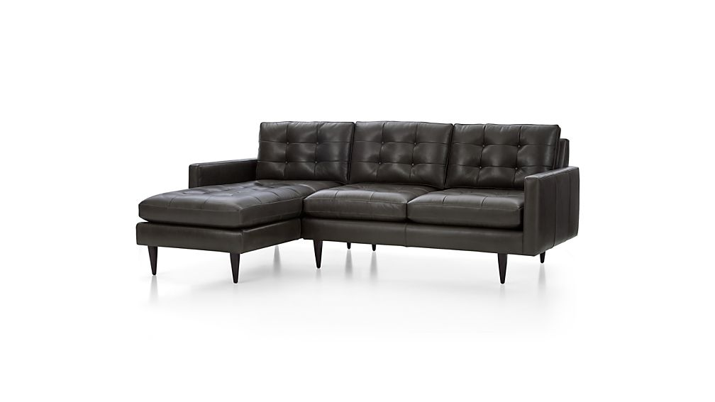 Petrie Leather 2-Piece Left Arm Chaise Sectional Sofa