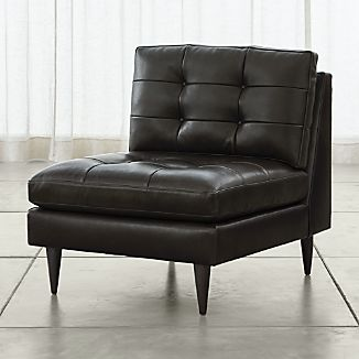 Petrie Armless Leather Chair