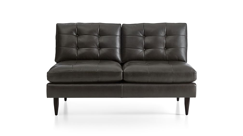 Petrie Leather Armless Loveseat