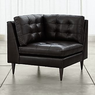 Petrie Leather Corner Chair
