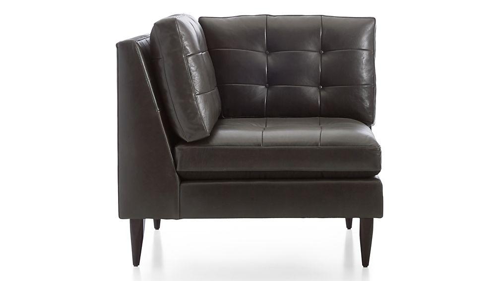 Petrie Leather Corner Chair